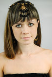 Mujer en el adorno de la ágata Imagen de archivo