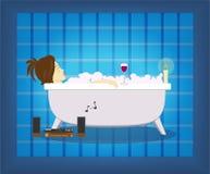 Mujer en el baño Fotografía de archivo