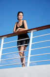 Mujer en el barco de cruceros Imagen de archivo