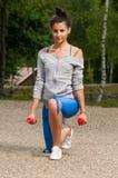 Mujer en el ejercicio del parque Fotos de archivo libres de regalías