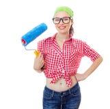 Mujer en el houseworker Foto de archivo libre de regalías