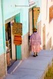 Mujer en el La Paz, Bolivia Fotos de archivo libres de regalías