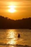 Mujer en el mar Fotos de archivo libres de regalías