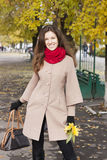 Mujer en el otoño Imagenes de archivo