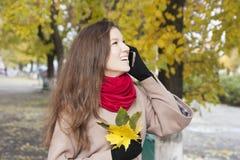 Mujer en el otoño Imagen de archivo libre de regalías