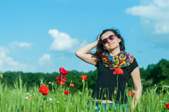Mujer en el sol Fotos de archivo libres de regalías