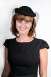 Mujer en el sombrero imagenes de archivo