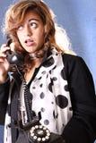 Mujer en el teléfono Imagen de archivo libre de regalías