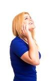 Mujer en el teléfono móvil Imagen de archivo