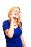 Mujer en el teléfono móvil Imagenes de archivo