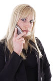 Mujer en el teléfono celular Imagen de archivo