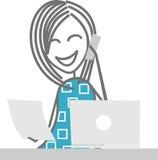 Mujer en el trabajo Imagen de archivo libre de regalías