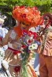 Mujer en el traje veneciano Imágenes de archivo libres de regalías