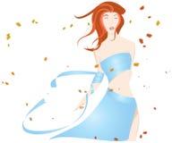 Mujer en el viento Libre Illustration