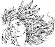 Mujer en estilo de los indios Rebecca 36 Fotos de archivo libres de regalías