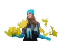 Mujer en estilo del invierno Imágenes de archivo libres de regalías