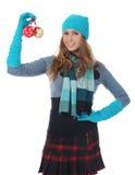 Mujer en estilo del invierno Imagen de archivo libre de regalías