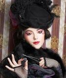 Mujer en estilo retro. Imagenes de archivo