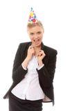 Mujer en favores de partido del juego de asunto que desgastan Fotografía de archivo