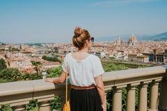 Mujer en Florencia foto de archivo