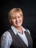 Mujer en Gray Vest Fotos de archivo libres de regalías