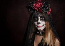 Mujer en Halloween Imagen de archivo