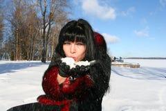 Mujer en invierno Fotos de archivo libres de regalías