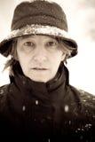 Mujer en invierno Imagen de archivo libre de regalías