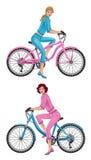 Mujer en la bici Fotos de archivo libres de regalías