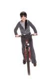 Mujer en la bici Foto de archivo