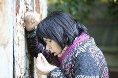 Mujer en la depresión Fotografía de archivo libre de regalías