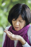 Mujer en la depresión Imágenes de archivo libres de regalías