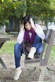 Mujer en la depresión Imagen de archivo libre de regalías
