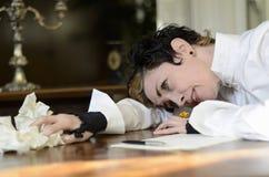 Mujer en la desolación Imagen de archivo