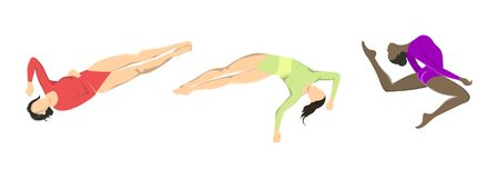 Mujer en la gimnasia libre illustration