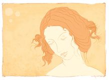 Mujer en la meditación Foto de archivo libre de regalías