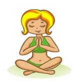 Mujer en la meditación. Imagenes de archivo