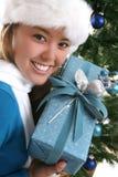 Mujer en la Navidad fotografía de archivo libre de regalías