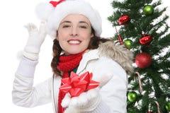 Mujer en la Navidad Imagen de archivo