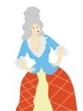 Mujer en la peluca aislada - vector Fotografía de archivo
