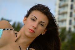 Mujer en la playa Fotos de archivo