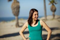 Mujer en la playa Imagen de archivo libre de regalías