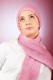 Mujer en la ropa caliente Fotos de archivo libres de regalías