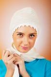 Mujer en la ropa caliente Imagen de archivo