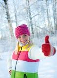 Mujer en la ropa del invierno al aire libre Imagen de archivo