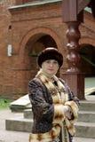 Mujer en la ropa histórica Foto de archivo