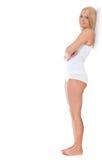 Mujer en la ropa interior blanca Imagen de archivo libre de regalías