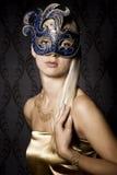 Mujer en máscara Imagen de archivo
