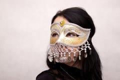 Mujer en máscara Imagen de archivo libre de regalías