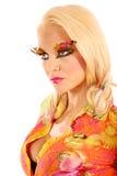 Mujer en maquillaje Fotos de archivo libres de regalías